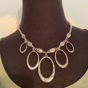 Brighton silver statement necklace w/fun details